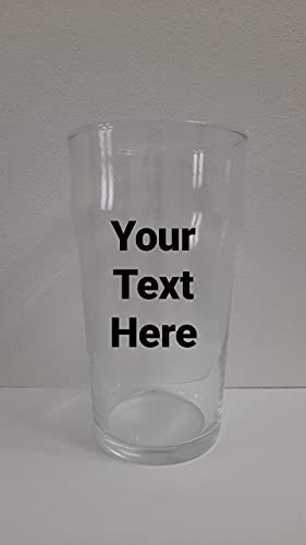 Vaso de pinta personalizado de 58 cl, personalizado con cualquier palabra, perfecto para cualquier ocasión.