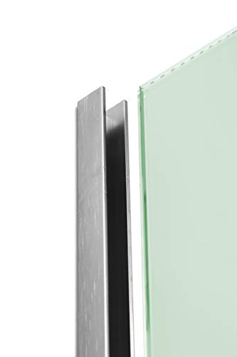 Profil/é en U en aluminium 2500 mm x 15 mm x 15 mm /à 10 mm.
