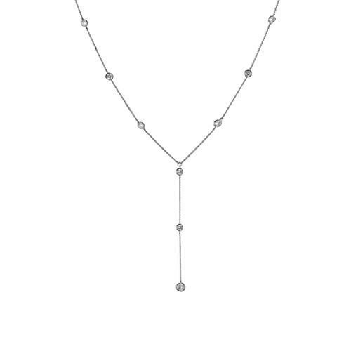 Homeofying - Collar Largo para Novia, con Incrustaciones de Diamantes de imitación, Cadena para el Cuerpo