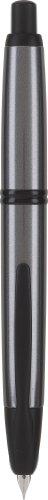 PILOT Vanishing Point Collection Refillable & Retractable Fountain Pen, Gun Metal Gray Barrel with Matte Black Accents, Blue Ink, Fine Nib (60583)