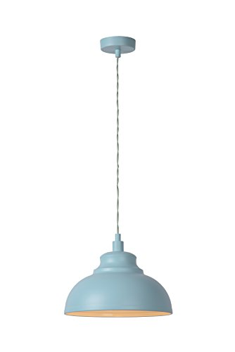 Lucide Isla–Colgante Leuchten–Diámetro 29cm–Taupe, metal, azul pastel, E14 40 wattsW 230 voltsV