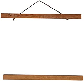 Magnetic Poster Frame Hanger, Natural Teak, 16x24 16x22 16x20 Poster Hanger for Photos, Pictures, Prints, Maps, Scrolls an...