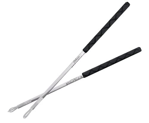 Silent Sticks - Quiet Drumsticks für live Auftritte - leise Schlagzeug Stöcke ideal für akustik Musik - reduzeirte Lautstärke mit vollem Sound - 1 Set (2 Stöcke) - mit Thick X-Grip