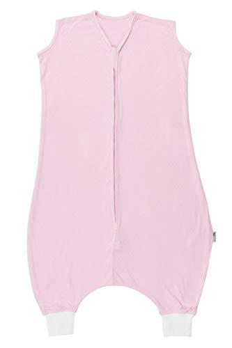 Schlummersack Schlafsack mit Füßen ungefüttert für den Sommer aus Bambus-Baumwolle in 0.5 Tog - Rosa - 110 cm