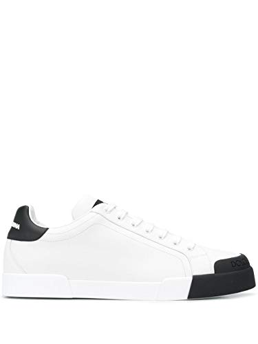 DOLCE E GABBANA Luxury Fashion Herren CS1802AW11389697 Weiss Leder Sneakers | Herbst Winter 20