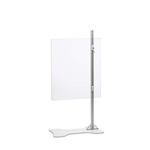 """InnerSpace Sneeze Guard Unit, Stationary, 30.5""""w x 36"""" to 68.75""""h, Freestanding, Clear Impervious Shield"""