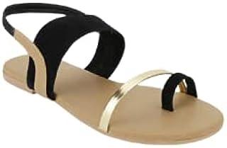 Galaxy Foot Craft Women Sandal Elastic-Black (SN26)