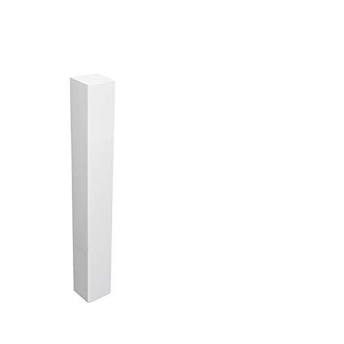 Universal Eckblock Eckturm Eckstab Buche WEISS 155mm (Eckturm PREMIUM (mit Fase))