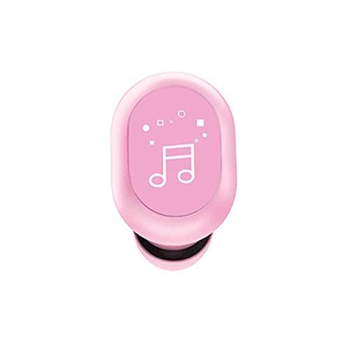 Auriculares de un solo oído Auriculares inalámbricos de un solo lado F911 Diseño de cuerpo artificial táctil Single Ear 5.0 Mini S8 Auriculares inalámbricos estéreo verdaderos todo en el oído - Rosa