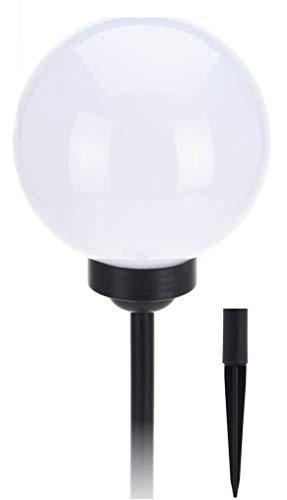 LED Solar Leuchtkugel - Kugelleuchte 25 cm in warmweiß auf 2 Höhen einstellbar - Solarleuchte Garten Lampe Solar Kugel