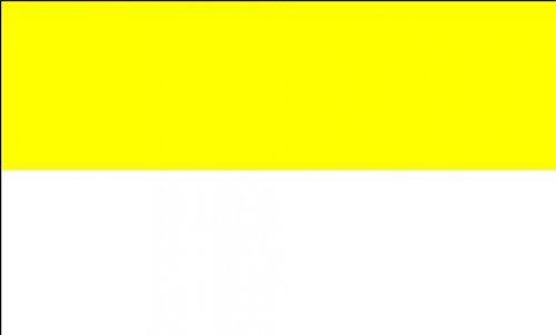 Riesen Flagge Fahne Gelb Weiß Kirchenfahne 150x250cm