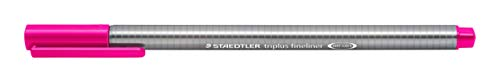 Caneta Ponta Extra Fina 0.3mm, Staedtler, Fineliner Triplus, 334-20 02, Magenta
