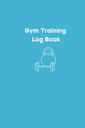 Gym Training Log Book: Barbell and kettlebell gym weights outline. Daily Training, Fitness & Wor