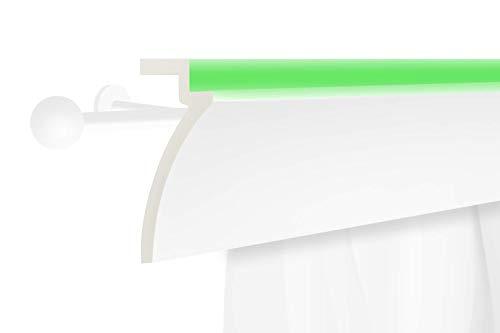 2 Meter | LED Gardinen Blende | indirekte Beleuchtung | Stuck | lichtundurchlässig | wetterbeständig | 125x60mm | KF801