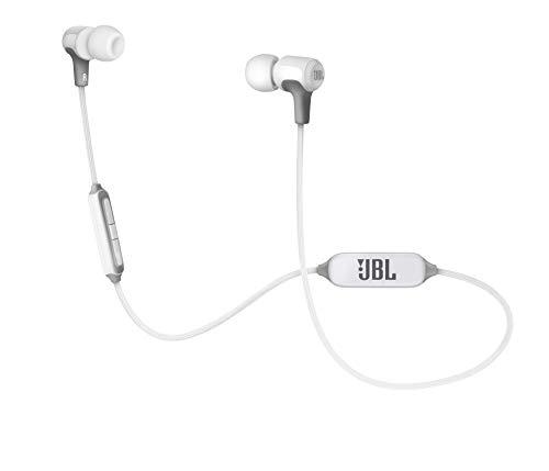 JBL E25BT Auriculares intraurales inalámbricos con micrófono y bluetooth, batería de hasta 8 horas, blanco