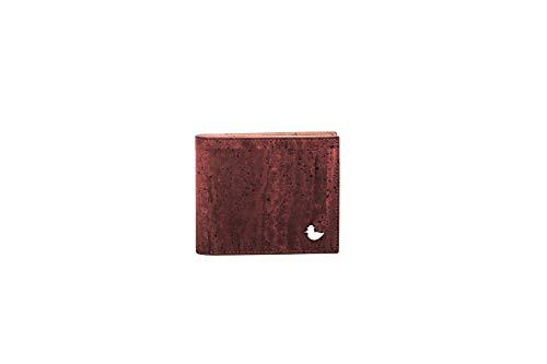 wittyduck® Kork Geldbörse für Herren und Damen mit RFID Schutz – hochwertiger Kork aus Portugal - Portemonnaie Portmonee Klein - vegan, nachhaltig, ökologisch - Braun