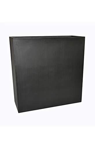 Raumteiler DIVIDO aus Fiberglas in schwarz-anthrazit - Größe (LxBxH): 61x20x65 cm, Pflanzkübel, Pflanztrog, Trennelement