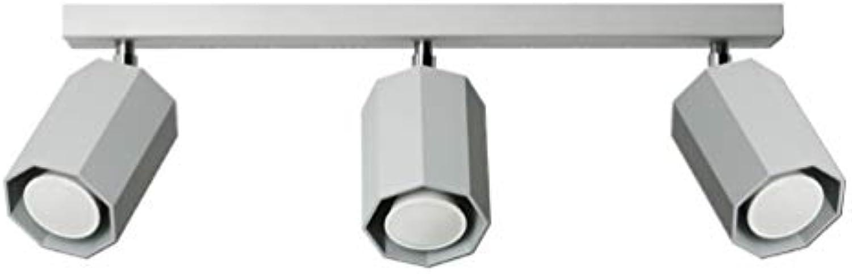 Lampex. Plafond Hex 3 grau