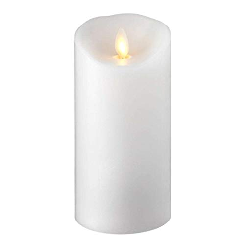 Raz Imports 3'X6' Push Flame White Pillar Candle - Flameless Lighting Accent and Decorative Battery Operated Flickering Light Source with Timer - Fake Candles for Living Room, Patio and Bedroom
