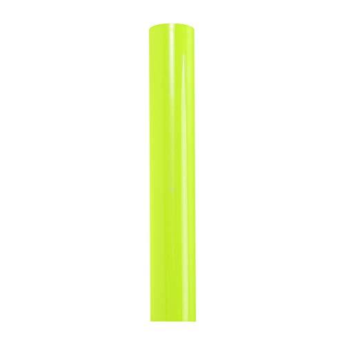 Healifty trasferimento di Calore Vinile Rotolo Hot Peel htv pu Gloss Vinile per Magliette Ferro su Abbigliamento Sportivo Altri Indumenti Tessuti (Verde Fluorescente)