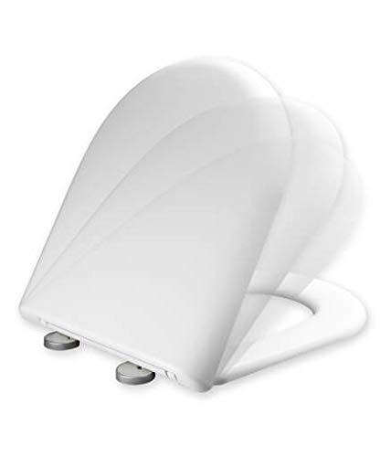 Tapa y asiento de inodoro con caída amortiguada compatible con Meridian Roca - (Modelo Antiguo)