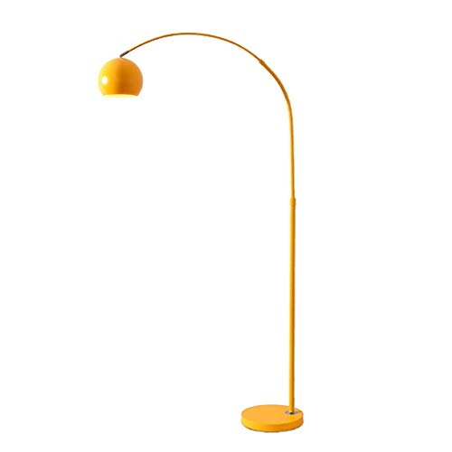LED Arc Floor Lamp with 3 Colour Temperatures, Modern Floor Light for Living Room, Bedroom, Office, Lounge, Energy Saving Standing Lamp with 9W LED Bulb, Yellow XIUYU