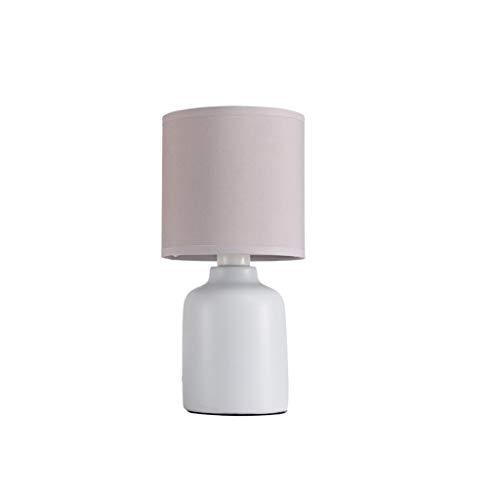 Lámpara de Cabecera Cerámica nórdica lámpara de mesa de noche dormitorio lámpara de mesa romántica creativa boda caliente de la lámpara de lectura simple luz de la noche Moderno Tela Personali