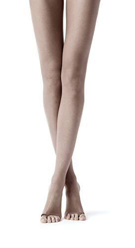 CALZE YTLI 2 pares de medias de chanclas muy rápidas | calcetines transparentes con punta abierta – sin punta | negro, beige | S, M, L, XL | 20 DEN | Made in Italy Negro S/M