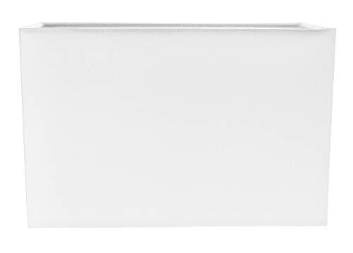 Zeitgemäß und stilvoll Elfenbeinweißes Leinengewebe Rechteckiger Lampenschirm von Happy Homewares