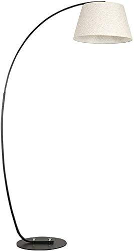 XBDD Lámpara clásica de Suelo Lámpara de pie de Libros de Dormitorio Creativo, sobre Luces Negras y de Pesca con luz Vertical, Negro, Negro + Negro LED Lámpara de Piso (Color : Black+White)