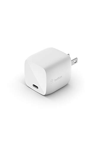Belkin 充電器 USB-C 30W PD 急速充電 GaN 窒素ガリウム 折りたたみ式プラグ MacBook/iPhone 12 / 11 / SE/iPad/Androidスマホ各種対応 BOOST↑CHARGE WCH001dqWH-A