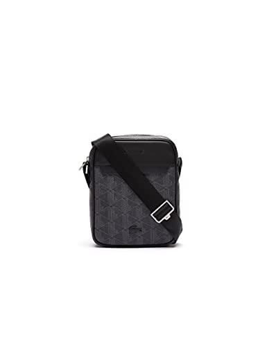 Lacoste Herren NH3653LX Crossover-Tasche, Allover Monogram Noir Gri, Taille Unique