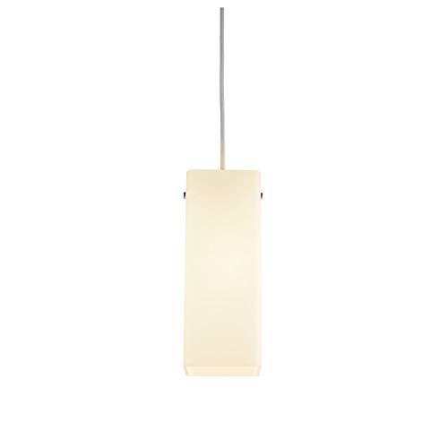 SLV Pendelleuchte QUADRASS / Wohnzimmer-Lampe, Innen-Beleuchtung, Hänge-Leuchte Esszimmer, LED, Decken-Leuchte / E27 40.0W chrom