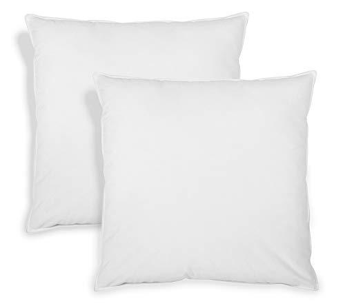 sleepling 196514 2er Set Feder- und Daunenkissen, Bezug aus 100% Baumwolle, 80 x 80 cm, weiß