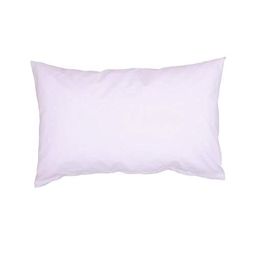 Hans-Textil-Shop Kissenbezug 20x30 cm Weiß Baumwolle (Deko, Sofa, Kissen, Kopfkissen, Kissenhülle)