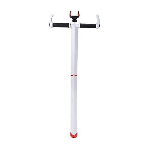 Linghuang Montaje Mango en Forma de T Scooter Manillar Ajustable con Soporte para teléfono Soporte T-Figure Holder para 2019 Ninebot miniPRO/miniLITE/ninebot minipro Ninebot S (Blanco)