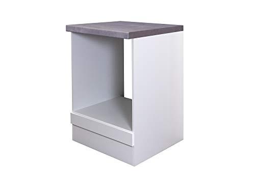 Smart Möbel Herd-Umbauschrank 60 cm Weiß - Nawa