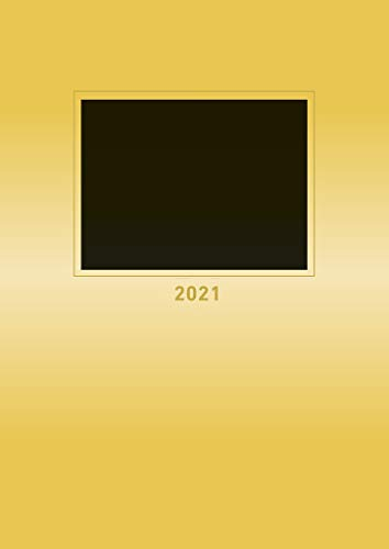 Foto-Bastelkalender gold 2021 - Kreativ-Kalender - DIY-Kalender - Kalender-zum-basteln - 21x29,7 - datiert