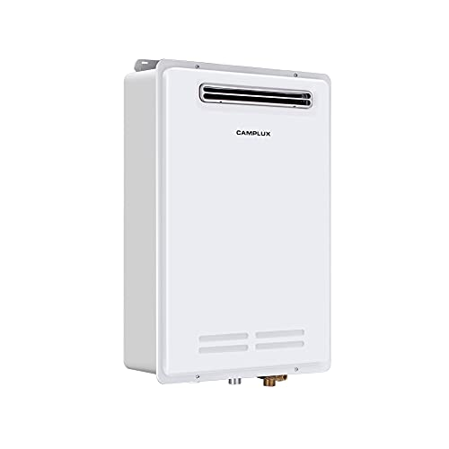 Tankless Water Heater, Camplux Pro 6.86 GPM Outdoor Propane Tankless Water Heater with Advanced High...