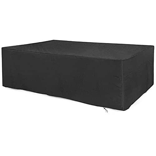 HMHMVM Terrassenmöbelbezug Rechteckige Hochleistungs-Gartenmöbel-Setabdeckungen Wasserdichter, reißfester, UV-beständiger Gartentisch und -Stuhl, Sofa, 210D Oxford-Bezug