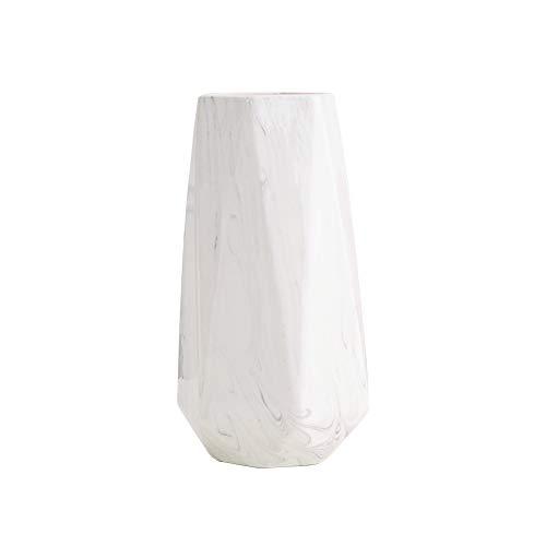 HCHLQLZ 25cm Weiß Marmor Vase Keramik Vasen Blumenvase Deko Dekoration