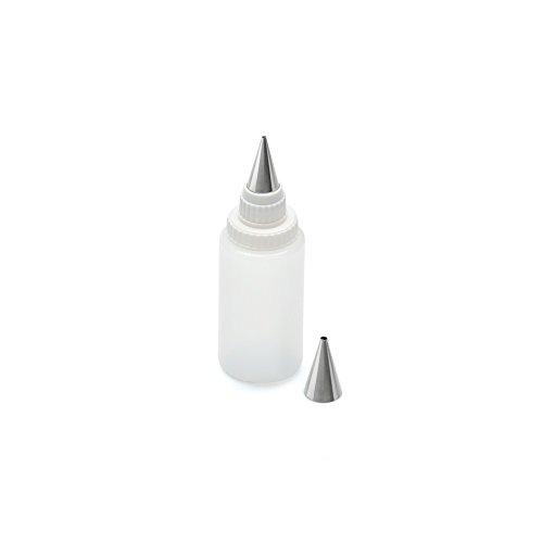 Kaiser Inspiration Dekorierstift, 3-teilig mit 2 Edelstahl-Tüllen transparenter Kunststoffbehälter 75 ml, Verzieren Beschriften von Torten, Kuchen, Tellerrand