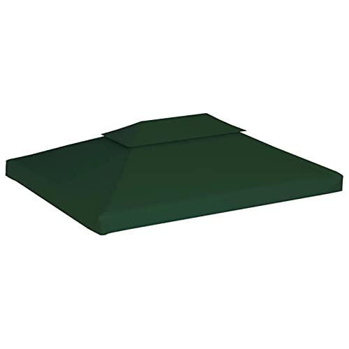 Ausla 3 x 4 m Toldo de Cenador de Repuesto Impermeable, Cubierta para pabellón con 8 Arandelas de Exterior Jardín, Verde