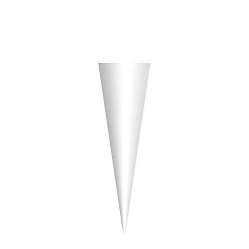 ROTH Schultüten-Rohling klein zum Basteln weiß - 50 cm rund - ohne Verschluss