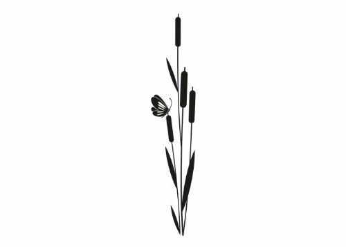 Wandtattooladen Wandtattoo - Schilfrohr Größe:24x120cm Farbe: silber