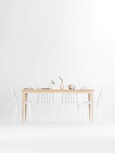 Schlichter, klassischer Esstisch komplett aus massivem Eichenholz, Küchentisch, Tisch