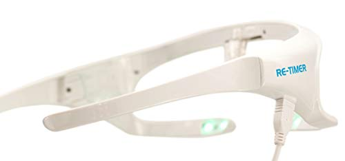 Re-Timer Light Therapy Glasses - Sleep Better, Boost Energy with Research Proven Under-Eye Blue-Green Light Therapy Glasses