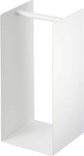 山崎実業(Yamazaki) ランドリー収納 ホワイト 約W14.5XD14.5XH30cm プレート 4143