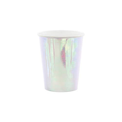 Party Deco Lot de 6 gobelets en Papier Multicolores avec Effet irisé