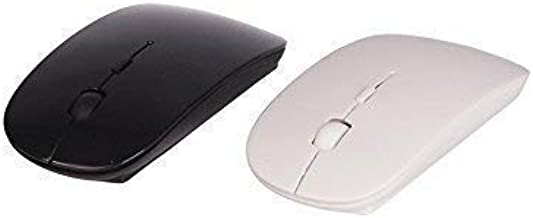 Laptop and Mac Ultrabook Pc Black Mobile Optical Wireless Slim Mouse 2.4 Ghz 1200 Dpi Wi-Fi Mice Tablet